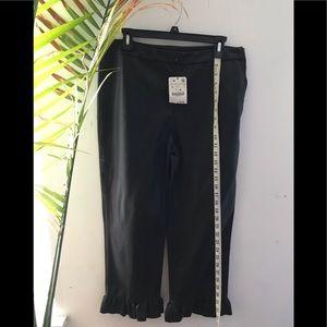 Faux leather crop pant